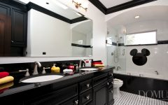 Mickey Mouse Theme Bathroom Interior