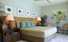 Midcentury Modern Coastal Themed Bedroom