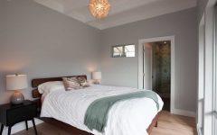 Minimalist Gray Coastal Bedroom