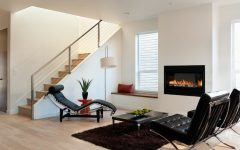 Minimalist Living Room With Modern Fireplace