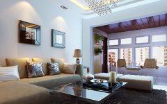 Minimalist Living Room Sofa and Wall Lamp