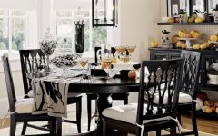 Modern Black White Dining Room Ideas 2014