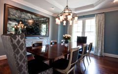 Modern Dining Room with Chandelier