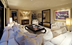 Modern Living Room Sofa With Layers of Pillows