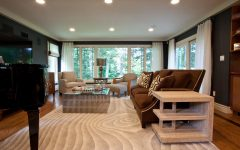 Modern Living Room With Swirl Pattern Area Rug