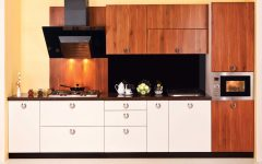 Modular Kitchen Sink With Wooden Kitchen Cabinet