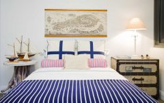 Navy and White Nautical Bedroom With Striped Duvet Cover