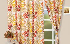 Neutral Curtain Floral Pattern