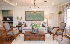 Neutral Rustic Living Room Decoration
