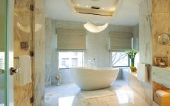 New Glamour Bathroom With Beautiful Crystal Chandelier
