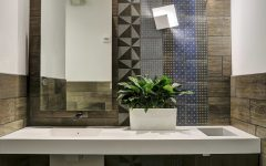Patterned Artisan Tile for Modern Bathroom Wall