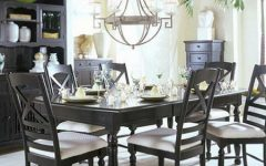 Popular Black White Dining Room Decoration 2014