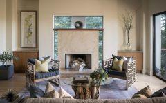 Reclaimed Wood Table in Minimalist Oriental Living Room