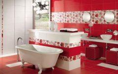 Red Retro Bathroom Design Ideas