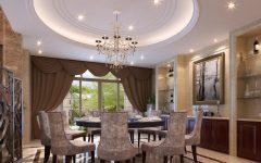 Round European Dining Room Architecture Design