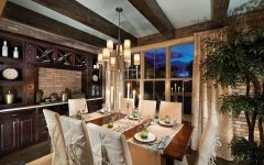 Rustic Yet Elegant Dining Room With Brick Wall Decor