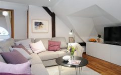 Simple Elegant Attic Living Room Remodel