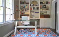 Simple Home Office With Carpet Flooring