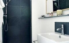 Simple Minimalist Black White Shower Room Ideas
