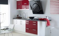 Simple Minimalist Burgundy Kitchen Ideas