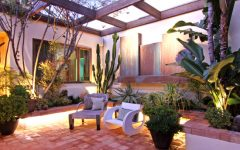 Simple Minimalist Courtyard Furniture Ideas