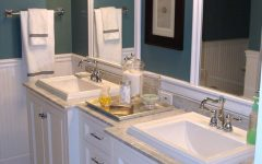 Sleek Dual Vanities Highlight Cottage Style Bathroom Refresh