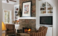 Modern Fireplace With Stone Veneer