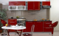 Small Kitchen Furniture Red Color Ideas
