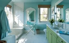 Sophisticated Kids Bathroom in Soothing Coastal Colors