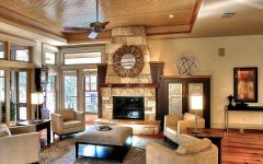 Sophisticated Rustic Living Room Decor With Modern Lighting