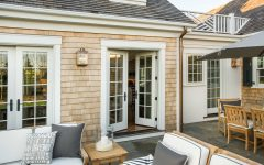 Spacious Back Patio With French Doors