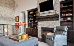 The Natural Warmness of the Stone Fireplace