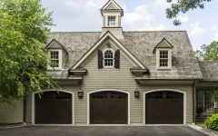 Three Car Garage at Colonial Home