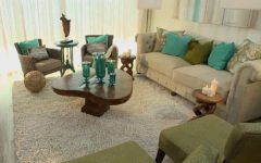 Transitional Living Room With Coastal Color Palette