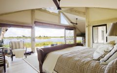 Tropical Bedroom With Bay View