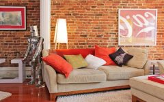 Unique Living Room Decor With Brick Wall