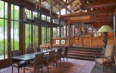 Vintage Open Dining Room With Detailed Woodcraft