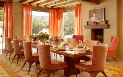 Warm Dining Room Contemporary Design