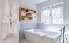 White Bathroom With Glass Enclosed Shower