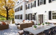 White Colonial Home With Large Back Deck