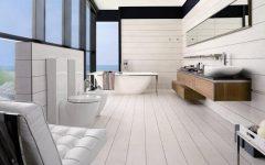 White Elegant Bathroom Wall Decoration Ideas