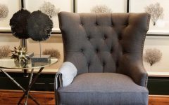 Wingback Chair in Coastal Sitting Room