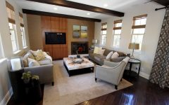 Wood Drop Ceiling Modern Living Room