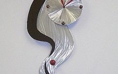 Abstract Wall Art With Clock