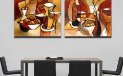 Abstract Kitchen Wall Art