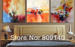 Abstract Wall Art for Bedroom