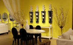 Alluring Living Room Yellow Walls Interior Decorating