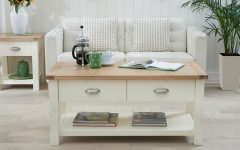 Cream and Oak Coffee Tables