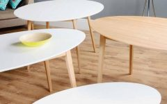 Oval White Coffee Tables