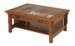 Coffee Tables With Glass Top Display Drawer
